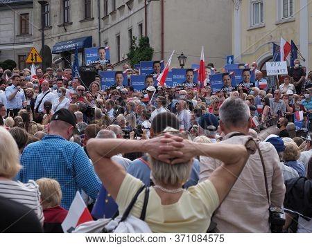 Bielsko-biala, Poland On June 12, 2020: Warsaw Mayor Rafal Trzaskowski, Presidential Candidate Of Th