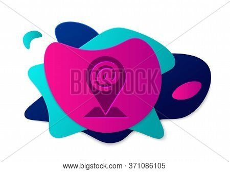 Color Location And Mail And E-mail Icon Isolated On White Background. Envelope Symbol E-mail. Email