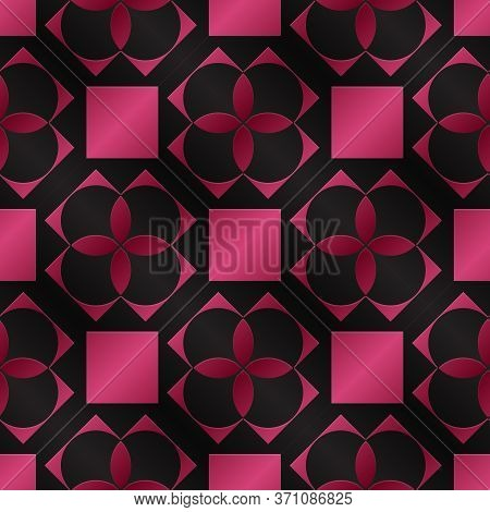 Seamless Pattern As Imitation Of Colored Metal Foil.\nbackground With A Metal Surface As A Graphic D