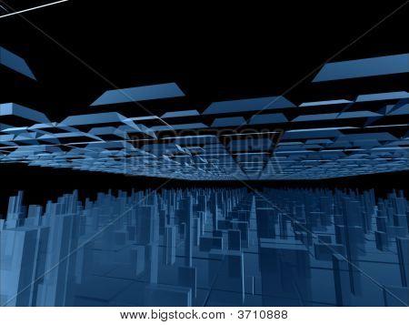 Fantasy auslandaufenthalt blau futuristisch Konstruktionen