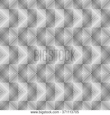 Vector Seamless Pattern. Infinitely Repeating Modern Geometrical Texture Consisting Of Intersecting