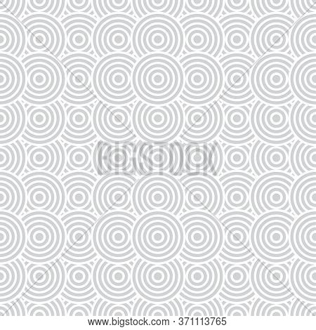 Vector Seamless Pattern. Modern Elegant Texture With Regularly Repetition Geometrical Shapes, Arcs,