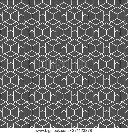 Repetitive East Vector Web, Backdrop Pattern. Repeat Creative Graphic Rhombus Grid Texture. Seamless