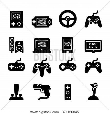 Gaming Icons. Outline Thin Line Icons Such As Dlc, Quiz, Webcam, Game Console, Game Pad, Game Consol