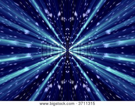 Fantasy Alien Great Abstract Wurh Blue Shines