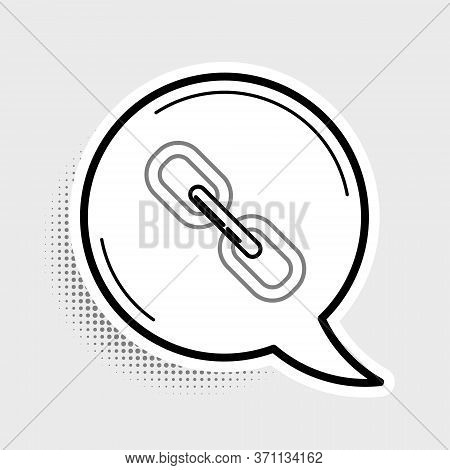 Line Chain Link Icon Isolated On Grey Background. Link Single. Colorful Outline Concept. Vector