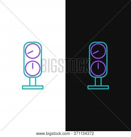 Line Gauge Scale Icon Isolated On White And Black Background. Satisfaction, Temperature, Manometer,