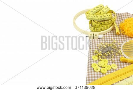 Sewing Equipment Isolated On White Background