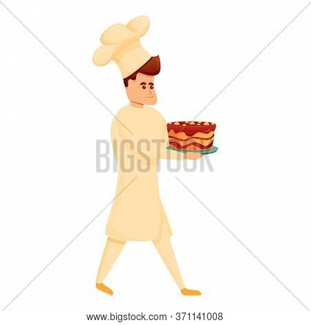 Bakery Chef Cake Icon. Cartoon Of Bakery Chef Cake Vector Icon For Web Design Isolated On White Back