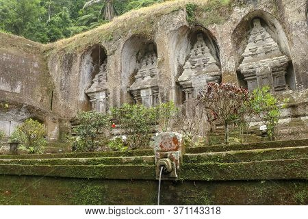 Gargoyles With Holy Water In The Complex Of Royal Tombs Of The Udayan Dynasty. Ancient Royal Tombs A