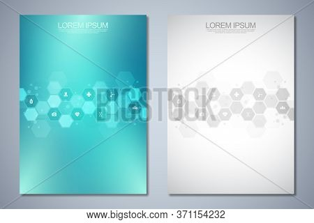 Template Brochure Or Cover Book, Page Layout, Flyer Design. Concept And Idea For Health Care Busines
