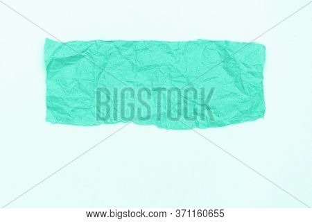 Abstract Part Of Packaging Craft Wrinkled Paper On Whitebackground, Toned In Trendy Color Of 2020 Bi