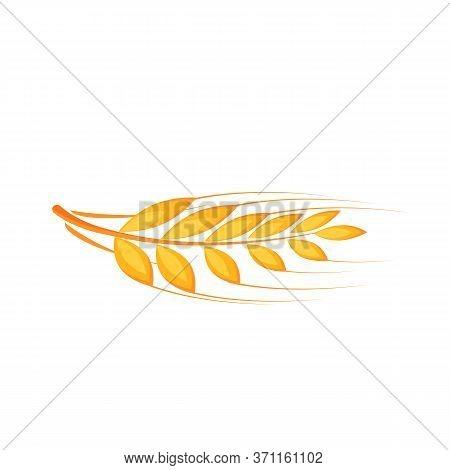 Wheat Ear Cartoon Vector Illustration. Barley, Rye Flat Color Object. Basis For Baking. Source Of Vi
