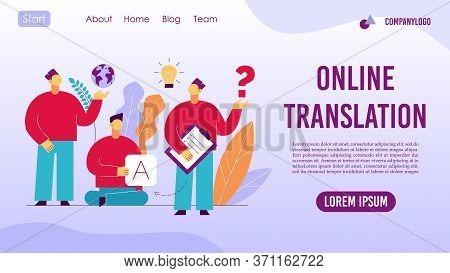 Online Translation Foreign Language Interpreter App Concept