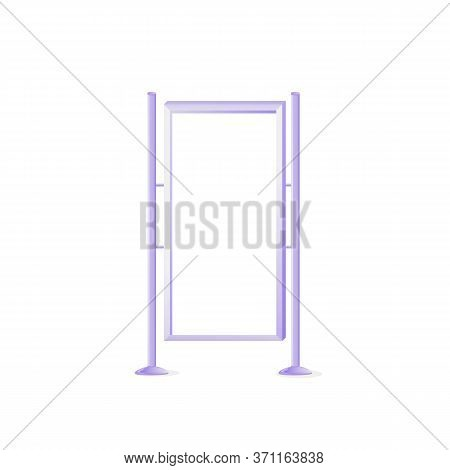 Modern Outdoor Vector Advert Board Sign Illustration. Vertical Street Stand For Placard. Commercial