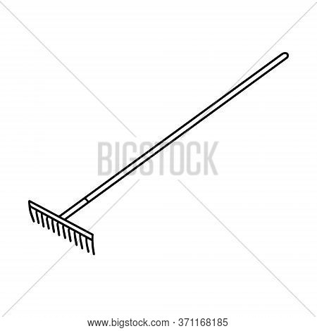 Garden Rakes Isolated On A White Background. Rake For The Garden.tools For Earthworks And Territory