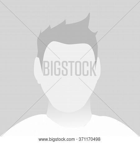 Default Male Avatar Profile Icon. Grey Photo Placeholder
