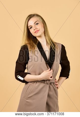 Fits Perfect. Fashion And Beauty. Always Look Elegant. Clothes For Everyday Life. Businesswoman Or S