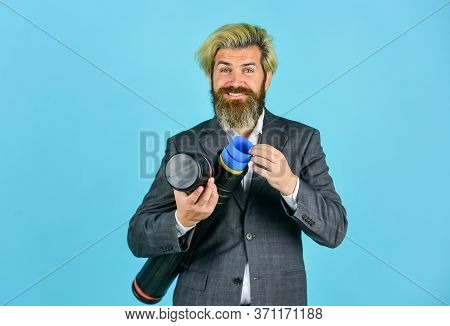 Tube Hollow Cylinder Holding Transporting. Business Plan. Transportation Drawings. Man Formal Suit E