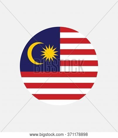 National Malaysia Flag, Official Colors And Proportion Correctly. National Malaysia Flag. Vector Ill