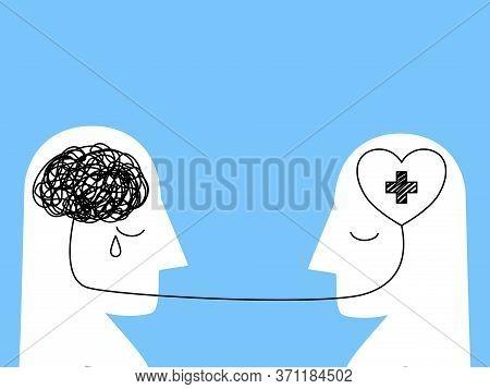 Mental Health ,illness,brain Development ,medical Treatment  Concept,therapist Treat Patient  Illnes