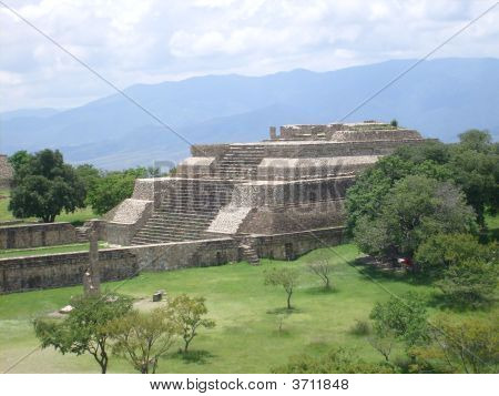 Pyramid At Monte Alban