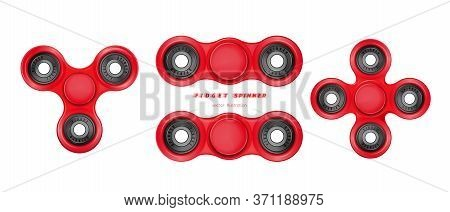 Different Shapes Spinners Set. Hand Fidget Spinner Toy For Improvement Of Attention Span. Stress-rel