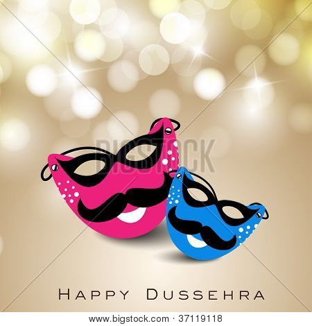Greeting card for Dussehra festival celebration in India. EPS 10.