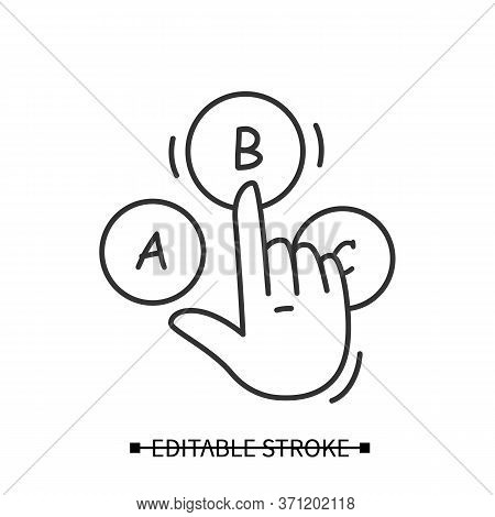 Consumer Survey Icon. Hand Choice Multiple Option Answer Pictogram. Marketing Strategy Research, Cus