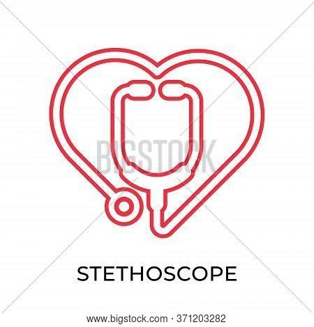 Stethoscope. Stethoscope icon. Stethoscope vector. Stethoscope icon vector. Stethoscope illustration template. Stethoscope logo design. Stethoscope vector icons. Stethoscope vector icon flat design for web icons, logo, sign, symbol, app, UI.