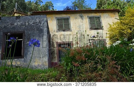 Abandoned Property On The Hillside  In Madeira