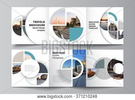 Vector Layout Of Square Covers Design Templates For Trifold Brochure, Flyer, Cover Design, Book, Bro