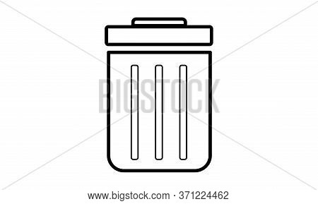 A Vector Illustration Artwork Of  Used Dustbin