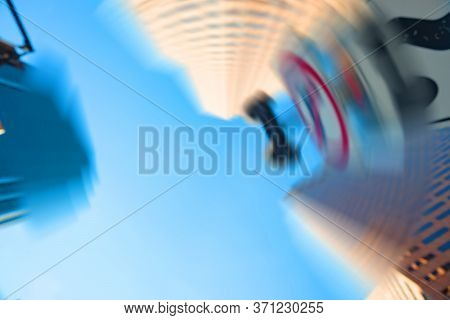 High-rise Buildings Towering Overhead In Blurred Abstract Background Image Og Big City Impressionism