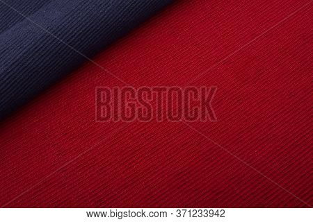 Blue Placemat On Red Placemat , Cotton Place Mat Background,