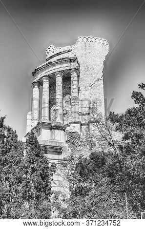 Trophy Of Augustus, Aka Trophy Of The Alps, Iconic Landmark In La Turbie, Cote D'azur, France