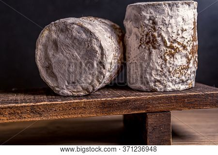 Charolais Chevre French Goat Cheese. Cheese Artisan. Healthy Fresh Nutrition. Healthy Food Backgroun