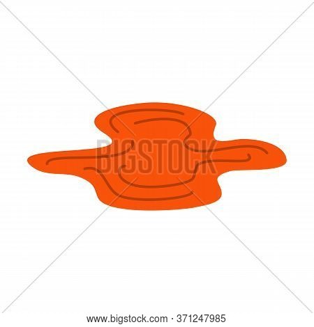 Puddle Of Mud Isolated. Dirty Plash On White Background, Vector Illustration Design