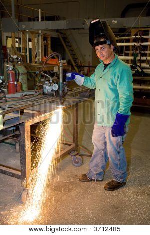 Track Burner In Metal Factory