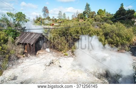 The Geothermal Activity Underneath The Ground In Whakarewarewa The Living Maori Village In Rotorua T