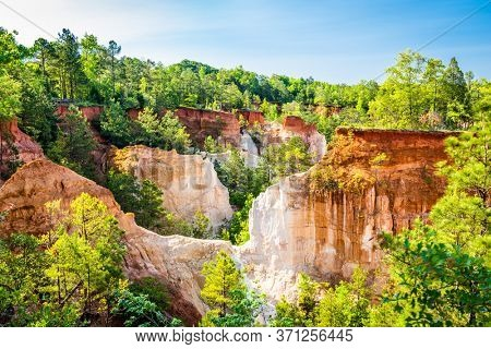 Landscape of Providence Canyon, Georgia, USA