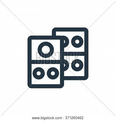 Domino Vector Icon. Domino Editable Stroke. Domino Linear Symbol For Use On Web And Mobile Apps, Log