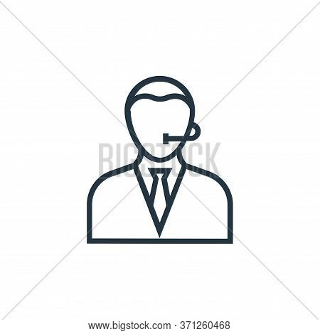 Call Center Agent Vector Icon. Call Center Agent Editable Stroke. Call Center Agent Linear Symbol Fo