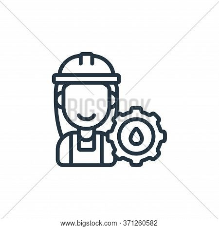 Worker Vector Icon. Worker Editable Stroke. Worker Linear Symbol For Use On Web And Mobile Apps, Log