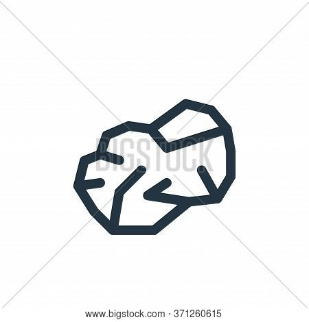 Asteroid Vector Icon. Asteroid Editable Stroke. Asteroid Linear Symbol For Use On Web And Mobile App
