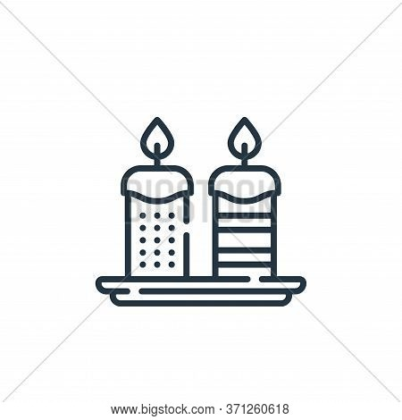 Candles Vector Icon. Candles Editable Stroke. Candles Linear Symbol For Use On Web And Mobile Apps,