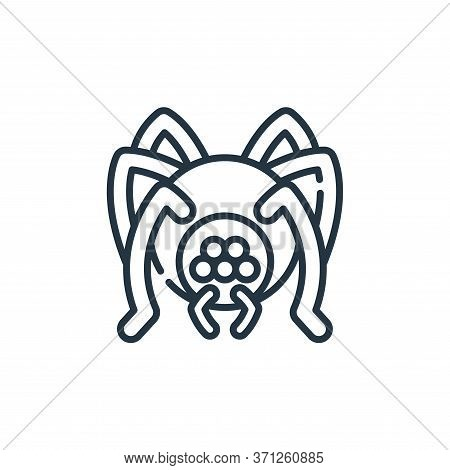 Spider Vector Icon. Spider Editable Stroke. Spider Linear Symbol For Use On Web And Mobile Apps, Log