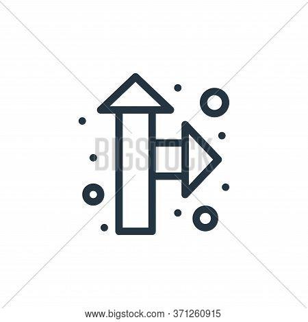 Direction Arrow Vector Icon. Direction Arrow Editable Stroke. Direction Arrow Linear Symbol For Use