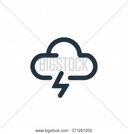 Storm Vector Icon. Storm Editable Stroke. Storm Linear Symbol For Use On Web And Mobile Apps, Logo,