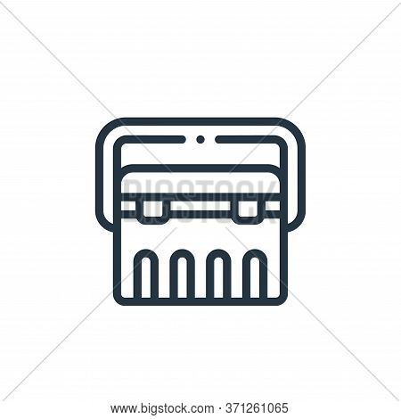 Portable Fridge Vector Icon. Portable Fridge Editable Stroke. Portable Fridge Linear Symbol For Use